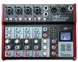 E-Lektron SE-6 Live Mischpult 4-Kanal Mixer + stereo USB/Bluetooth/Soundkarte, inkl....