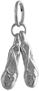 Argent 925 paire de ballerines//chaussons de ballet Charm//Pendentif