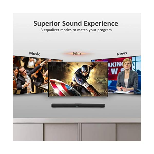 Sound Bars for TV, Saiyin Wired and Wireless Bluetooth 5.0 TV Stereo Speakers Soundbar 32'' Home Theater Surround Sound…