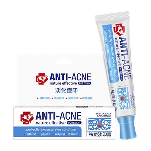 Luckine Acne Scar Remover Cream, Formule naturelle Réparation de la peau, Traitement Gel d'acné éclaircissant Pigment Acné Soins de la peau Réparation Acné Pit Skin Care