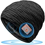 HANPURE Bluetooth Gorro Invierno Hombre Regalos Originales - Gorro con Auriculares Bluetooth 5.0, Gorro de Punto Bluetooth Inalámbrico Música HD, Hombres Mujer Regalos Tecnologicos