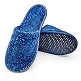 Arus Women's Organic Turkish Terry Cotton Classic Spa Bath Slippers Size 5-7.5, Azul