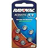 60 Batterien Rayovac RA-Acoustic-312...