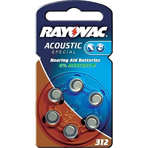 Rayovac 312Acoustique spécial/1.4V/180mAh pour Piles auditives Boîte de 60(10x 6)