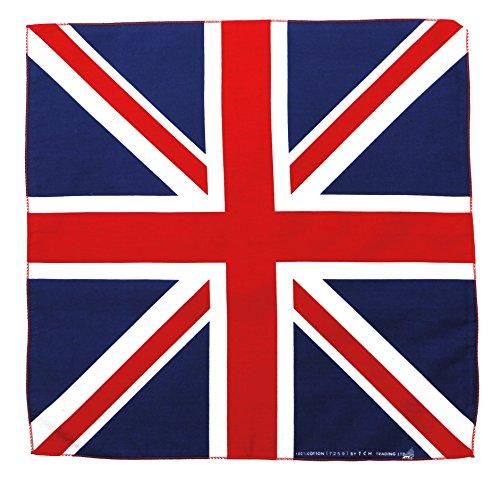 Tuch Serviette de Bain Union Jack Drapeau UK Royaume Uni Bandana Foulard env. 51 x 51 cm Imprimé d'un Seul côté