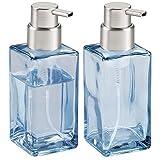 mDesign Juego de 2 dispensadores de jabón en espuma – Dosificador de baño de...
