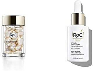 RoC Retinol Correxion Line Smoothing Day to Night Anti-Aging Serum Bundle: RoC Retinol Serum Night Capsules + Line Smoothing Daily Retinol Serum