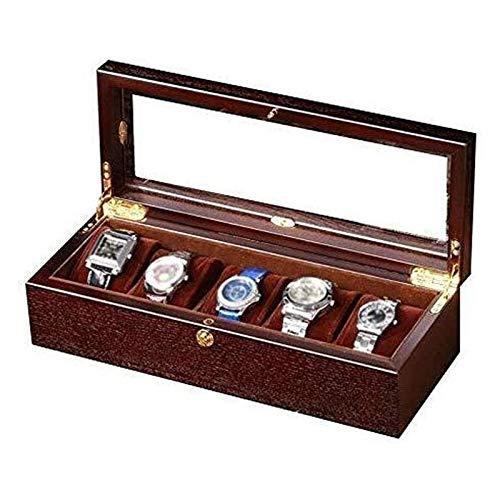 SSHA Joyero Caja de colección Caja de Almacenamiento de Cuadro de Madera Reloj de Reloj de Alto Grado Caja de Almacenamiento de joyería Organizador de Joyas