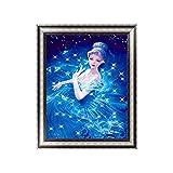 Kit de pintura de diamante 5D para adultos, Frozen 2 Princesa Anna y Elsa Kit de bordado de diamante completo para casa, oficina, decoración de pared, pintura por números, 11.8 x 15.7 pulgadas