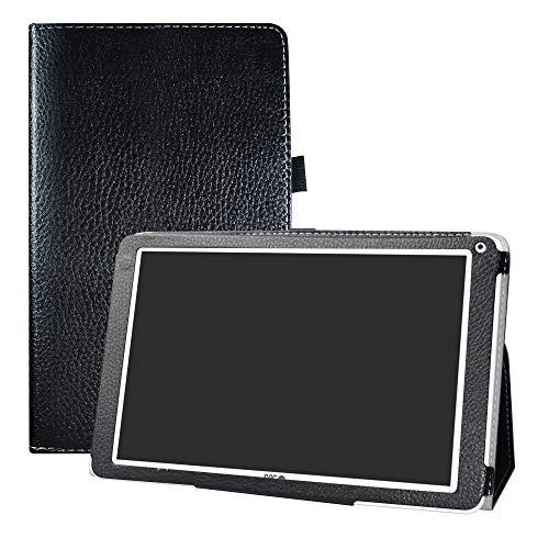 LFDZ SPC Heaven Funda, Soporte Cuero con Slim PU Funda Caso Case para 10.1' SPC Heaven Tablet,Negro