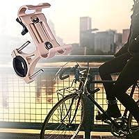 360°回転ラバーパッド自転車電話サポート、電話用(360 degree rotating golden)
