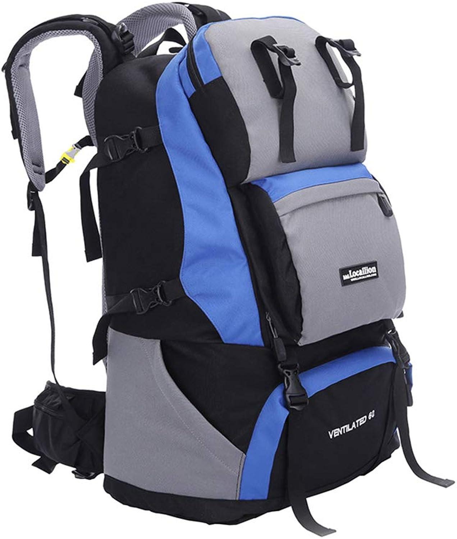 Outdoor-Reisen Camping Bergsteigen Taschen, Multifunktionales Polyester wasserdicht 60L Rucksack mit groer Kapazitt Mnner und Frauen in der Tarnung Umhngetasche,Zum Klettern   Angeln   Wandern