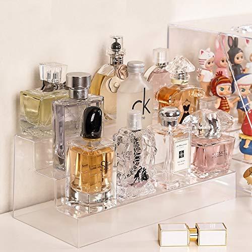 Soporte de exhibición de acrílico transparente multicapa Esmalte de uñas Soporte de soporte de perfume Maquillaje Hermosa caja organizadora Juguetes Misceláneas Estante de almacenamiento de exhibición