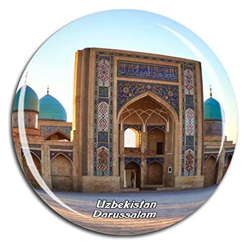 Weekino Moschea di Hazrati Imam Tashkent Uzbekistan Asia Fridge Magnet 3D Crystal Glass Tourist City Viaggio Souvenir Collection Regalo Forte Frigorifero Sticker