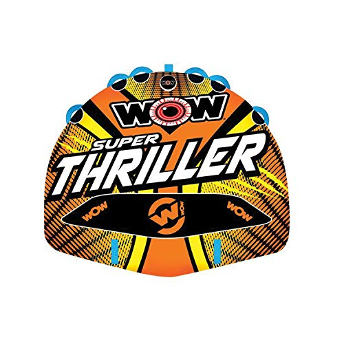 WOW Watersports Thriller Deck Tube Water Towable Tube Inflatable Boat Tube, Wild Wake Action - Water Sports Inflatables - Towable Tube for Boating 3 Person