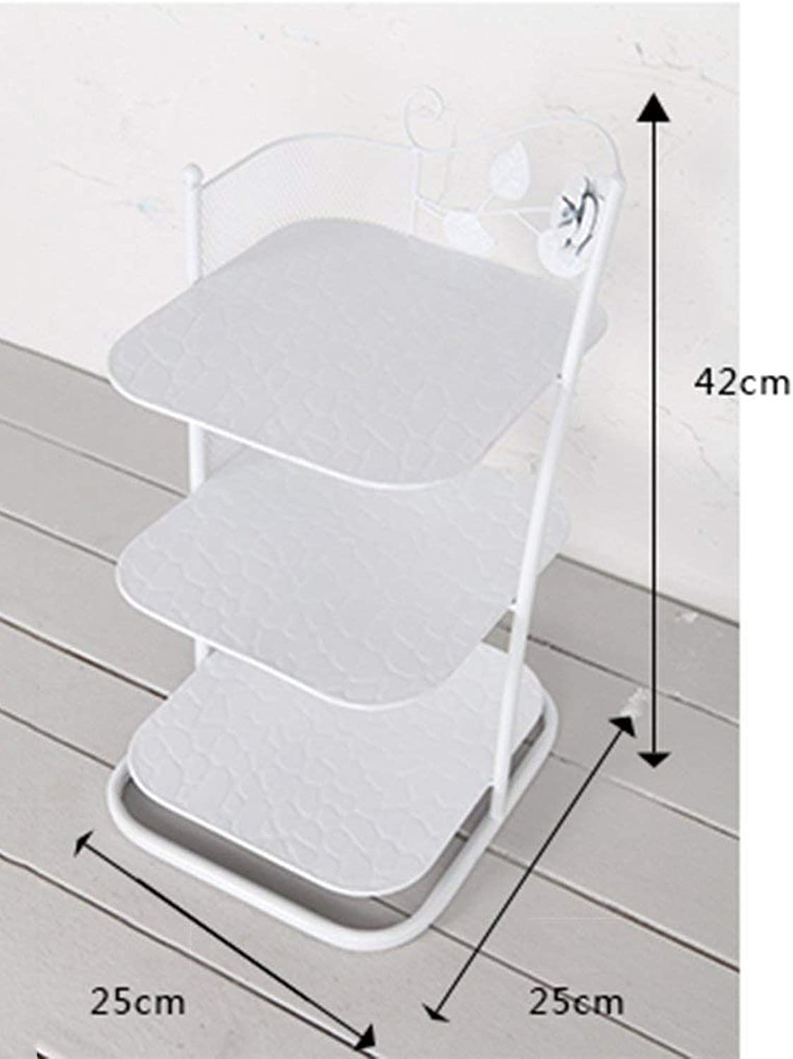 AO-Stool Small Narrow shoes Rack Metal White Black for Boots Balcony Entrance Corner Entrance 3 to 7 Tier Stackable Shelf (color   White, Size   3 Tier)