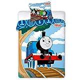 Biancheria da letto per bambini con il trenino Thomas 024, 100 x 135 cm + 40 x 60 cm