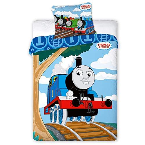 Thomas and Friends 024 Kinderbettwäsche Babybettwäsche 100x135 cm + 40x60 cm