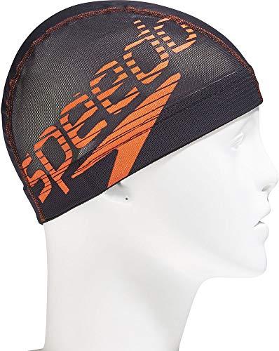 Speedo(スピード) スイムキャップ Big Stack ビッグスタック メッシュキャップ SD98C73 サンオレンジ SO M