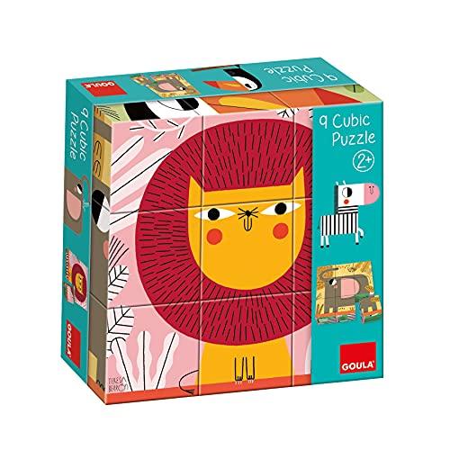 Goula 9 Cubic Puzzles apilble para niños a Partir de 2 años, Multicolor (53469)