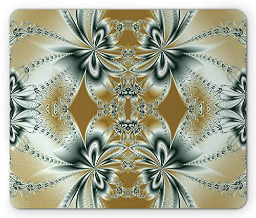 Gaming Mouse Pad, Fractal Mouse Pad, Floral Pattern with Abstract Design Fantastic...
