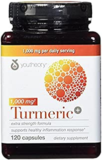 Youtheory Turmeric Extra Strength Formula Capsules 1,000 mg per Daily, 180 Count (Pack of 4) vi&ckA
