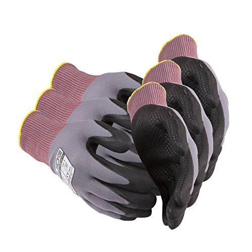 3 x Guide 582 Schutzhandschuhe aus nahtlos gestricktem Nylon-Garn mit Handschuhberater, 3 Paar-9