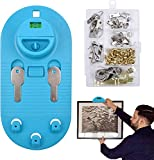 Deoxys Picture Hanging Kit, Picture Hanging Tool Wall Hanging Kit, Leveling Tool for Photo Frames, Clocks, Artwork, Command Picture Hanging Strips Picture Hangers with Hardware Included 85 Pcs(DE-36)