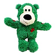 KONG - Holiday Wild Knots Bear - Internal Knotted Ropes and Minimal Stuffing for Less Mess - For Sma...