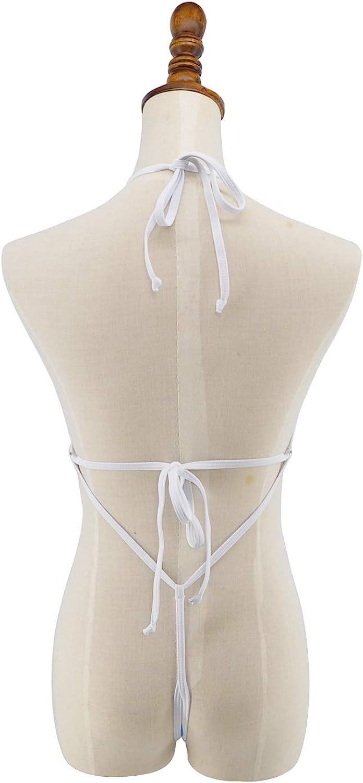 SHERRYLO See Through One Piece Swimsuit High Cut Micro Monokini Bikini Mini Mesh Transparent Bathing Suit