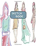 Sketchbook: Drawing Sketch Book For Pencil Sketching & Stenciling: Fashion Sketch Pad For Girls Kids Adults (Sketch Paper Set Kit)