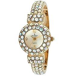 Silver/Rose Crystal Glitz Cuff Bangle Bracelet Jewelry Watch