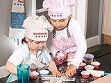 Emily´s Check Kochmütze + Küchenschürze + Topfhandschuh für Kinder - 3teiliges Set 1428.2002, Kitchen Star, Small [3-6 Jahre] - 7