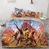綿要塞ナイトフォートナイト特大の羽毛布団ベルベット寝具布団カバーイージーケア布団カバー,A-SuperKing260×220cm