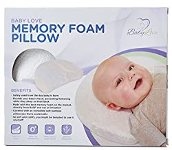 Baby Head Shaping Pillow | Memory Foam Baby Pillow With Natural Bamboo Pillowcase To Prevent Flat Head Syndrome (Plagiocephaly) and Torticollis Correction in Newborn Infants