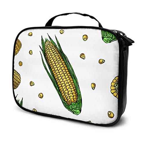 Una mazorca de maíz y Semillas de maíz Bolsa de tocador de...