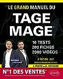 Le Grand Manuel du TAGE MAGE - N°1 DES VENTES 16 tests blancs + 200 fiches de cours + 2000 vidéos - Édition 2021