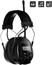 PROTEAR AM FM Radio Earmuff, Ear Protection Radio Headphones, Noise Reduction Rate 25dB, Safety Earmuffs for Mowing Lawn(Black)