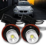 QKPARTS High Power Angel Eyes LED Ring Marker Light Bulbs 7000K Xenon White For...