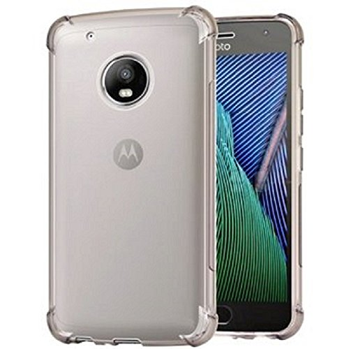 REY Funda Anti-Shock Gel Transparente para Motorola Moto G5 Plus/Moto G5+, Ultra Fina 0,33mm, Esquinas Reforzadas, Silicona TPU de Alta Resistencia y Flexibilidad