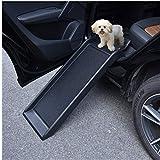 Bellanny Dog Car Ramp Portable Lightweight Dog & Cat Ramp Side Rails and High Traction Surface Pet Safe Loader for Sedan Car SUV Truck 40inch / 61.4inch