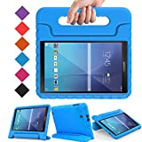 BMOUO Kids Case for Samsung Galaxy Tab E 9.6 - Shockproof Light Weight Convertible Handle Stand Protection Case for Samsung Galaxy Tab E/Tab E Nook 9.6 Inch Tablet (SM-T560/T561/T565/SM-T567V), Blue