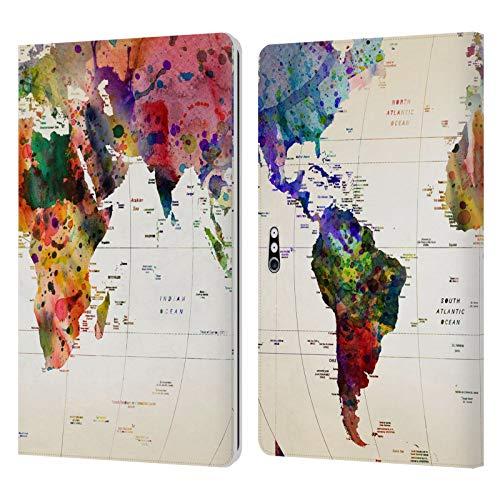 Head Case Designs Ufficiale Mark Ashkenazi Mappa del Mondo Cultura Pop Cover in Pelle a Portafoglio Compatibile con Microsoft Surface PRO 4/5/6