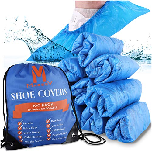 Shoe Covers Disposable Non Slip - 100 Pack...