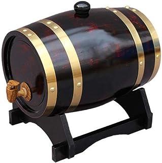 Tonneau à vin en chêne tonneau en bois de chêne tonneau à vin Étagère à vin Vintage Distributeur d'eau en pin naturel Conv...