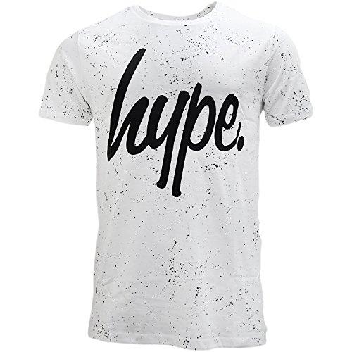 Just Hype - Camiseta - Básico - Manga Corta - para Hombre Blanco Blanco Small