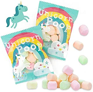 Unicorn Poop Candy - MADE IN THE USA – 24 Party Supplies Bags Favors for Kids - Marshmallows Bulk Treat Packs - Stocking Stuffers
