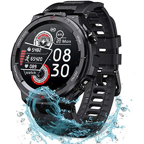 STARKIT Smartwatch für Herren & Damen, Smart Watch Wasserdicht 30m, Tough Sports Fitness Band im Freien 1,3