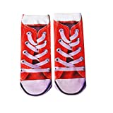 Veecome Women Fashion 3D Printing Style Casual Socks canvas shoes One size