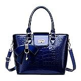 Tisdaini Bolsos de mano Mujer Bolsos bandolera Moda Bolsos totes Shoppers y bolsos de hombro ES909 Azul V1